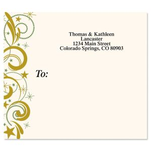 Christmas Curlicues Package Labels