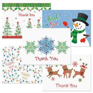 Christmas Season Thank You Note Cards