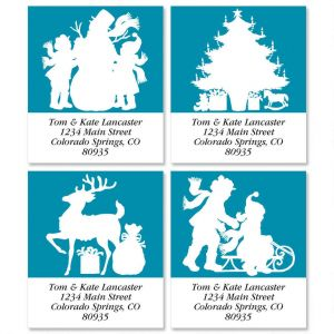 Christmas Stencil Select Address Labels  (4 Designs)
