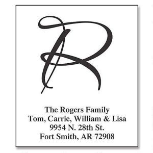 Clear Brush Initial  Premier Address Labels