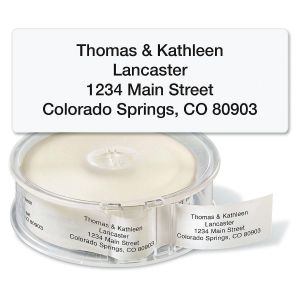 Clear Standard Rolled Return Address Labels