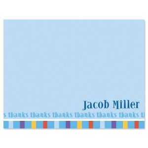 Color Bar Thank You Cards