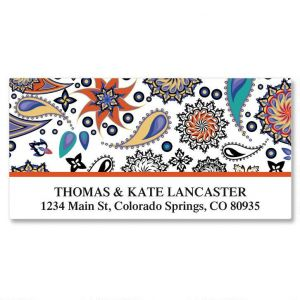 Color Paisley Deluxe Address Labels