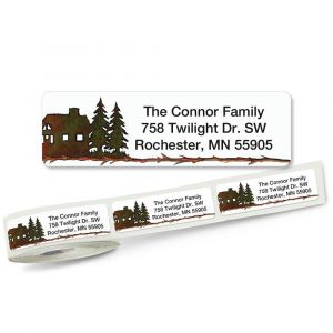 Country Lodge Rolled Return Address Labels