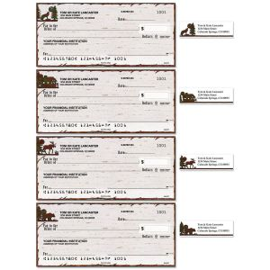 Country Lodge Single Checks With Matching Address Labels