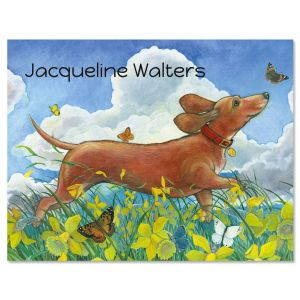 Dachshund Days Personalized Note Cards