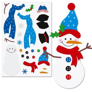 Decorate-Your-Own Snowman Sticker Sheets