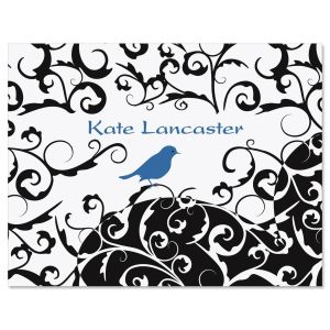 Distinctive Bird  Personalized Note Cards