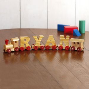 Engine & Caboose Wooden Name Train