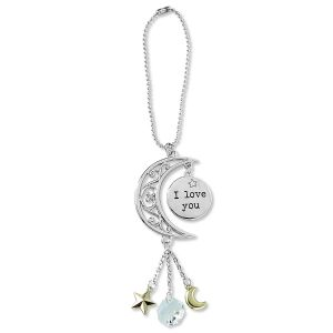Love You to the Moon Car Charm