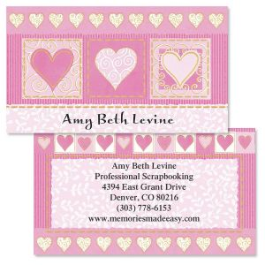 Fabulously Pink Double-Sided Business Cards
