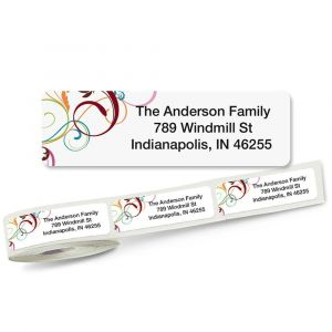 Fantasia Rolled Return Address Labels