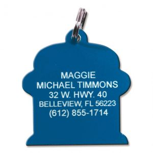Fire Hydrant Plastic Personalized Pet Tag