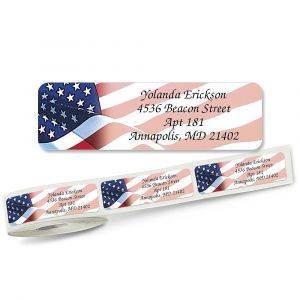 American Glory Rolled Return Address Labels