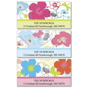 Floral Madness Deluxe Address Labels  (3 Designs)