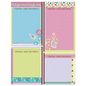Floral Patterns Memo Pad Set