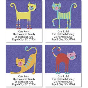 Fun Cats Select Address Labels  (4 Designs)