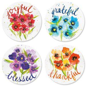 Poppies & Gratitude Envelope Seals (4 Designs)