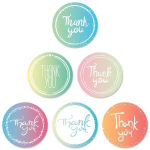 Round of Thanks Envelope Seals (6 Designs)