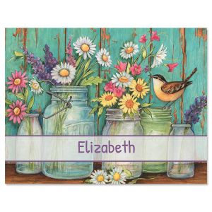 Garden Signs Personalized Note Cards