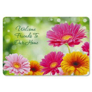 Gerbera Daisy Personalized Doormat