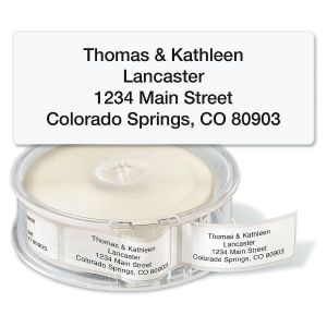 Gloss White Standard Rolled Return Address Labels