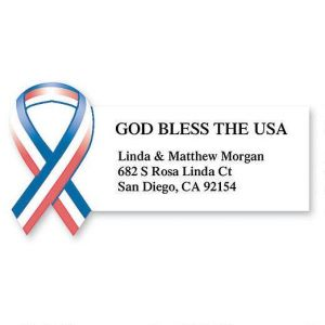 God Bless the USA  Diecut Address Labels