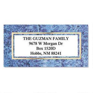 Granite & Gold  Foil Border Address Labels