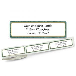 Green Border Rolled Return Address Labels