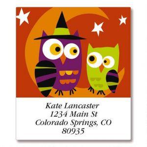 Halloween Owls Select Address Labels