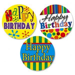 Happy Birthday Envelope Seals  (3 Designs)