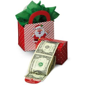 Happy Santa Money Dispenser & Gift Bag Set