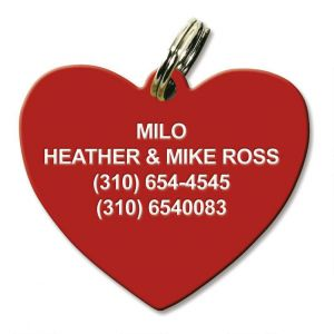 Heart Plastic Personalized Pet Tag