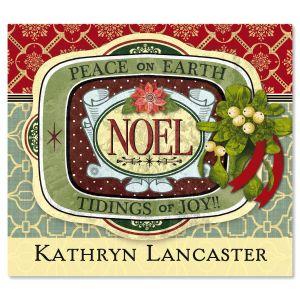 Holiday Noel Ephemera  Personalized  Goodie Labels  (1 Design)