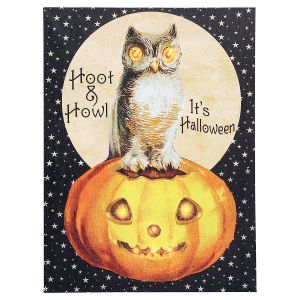 Hoot and Howl Lighted Canvas
