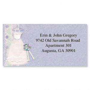 I Thee Wed Border Address Labels