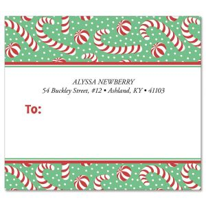 Jolly Candy Canes Package Labels