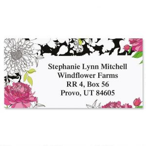 Just One Border Address Labels