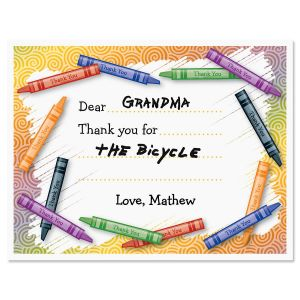Kids Thank You Note Cards Set of 12