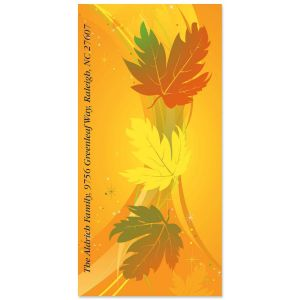Leaves of Fall Oversized Address Labels