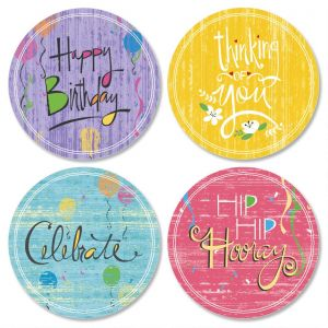 Let's Celebrate Envelope Seals   (4 Designs)