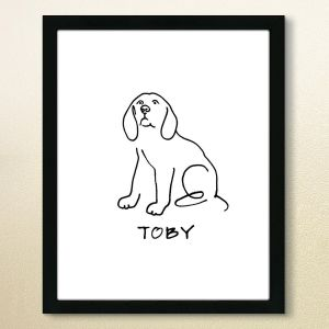 Line Drawing Personalized Print