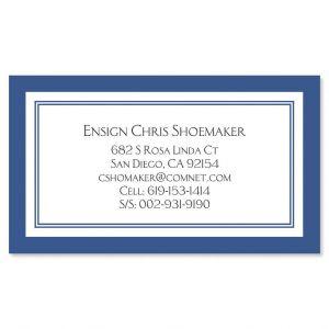 Luxe Navy Crisp Business Cards