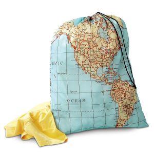 Maps Travel Laundry Bag