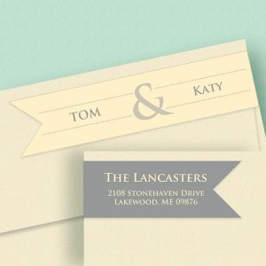 Modern Couple Connect Wrap Diecut Address Labels