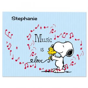 Music Snoopy™ Personalized Note Cards