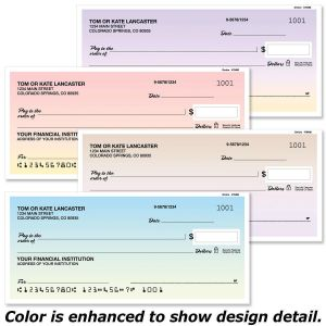 Ombre Personal Checks