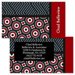 Op Art Double-Sided Business Cards