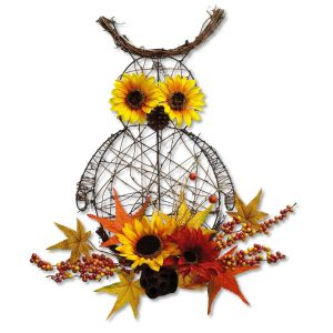 Fall Owl Floral Decoration