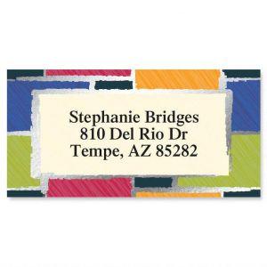 Patchwork  Foil Border Address Labels